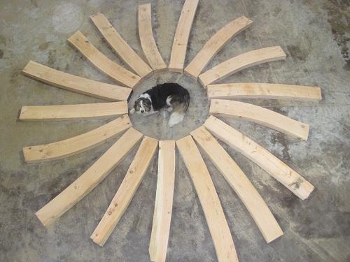 Oak frame braces by Castle Ring Oak