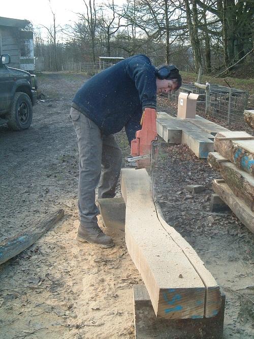 Timber framong at Castle Ring Oak Frame