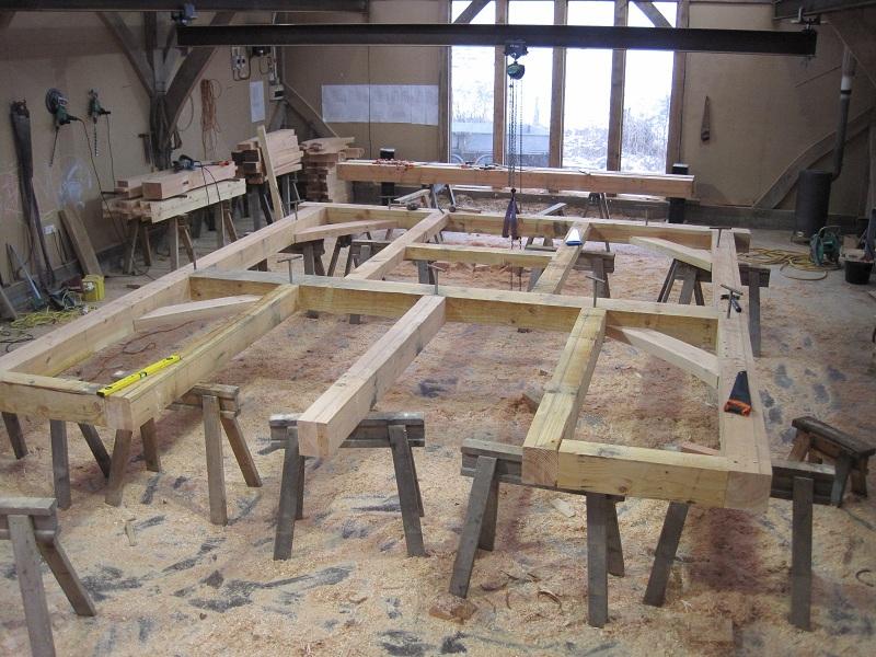 Timber framing cross frames