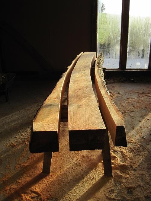 Timber framing at Castle Ring Oak Frame workshop