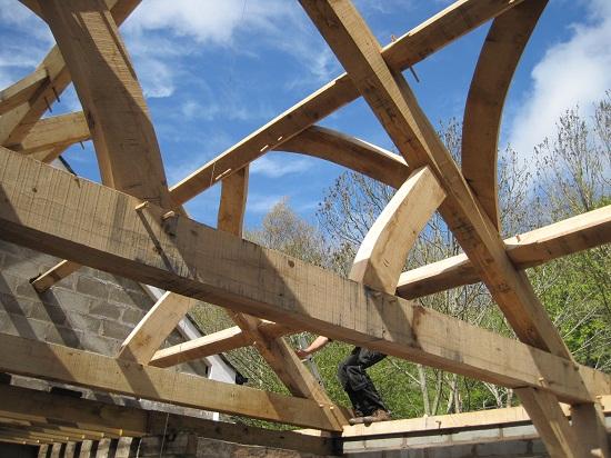 Wind braces at Castle Ring Oak Frame