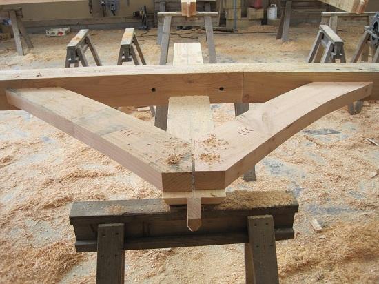 Castler Ring Oak Frame workshop - wind brace