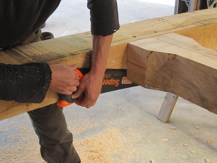 saw carving timber frame