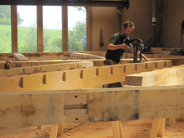 Castle Ring Oak Frame - Cutting Floor Joists