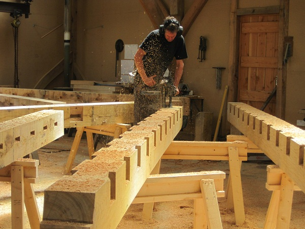 Castle Ring Oak Frame -  Floor Joists