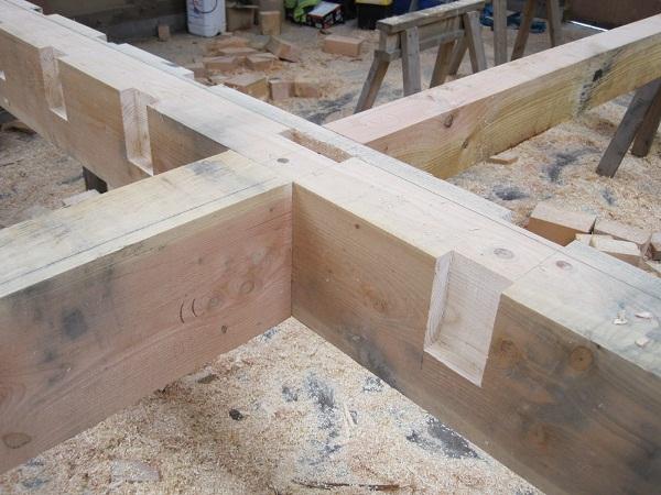 Castle Ring Oak Frame tusk tenons