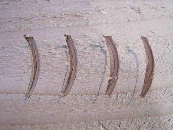 Castle Ring Oak Frame - chilsel marks