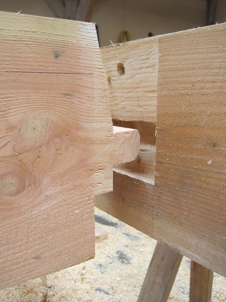 Castle Ring Oak Frame timber frame tenon