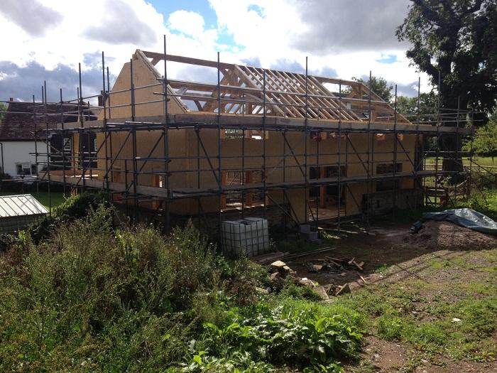SIPS panels and oak frame house timberframe house