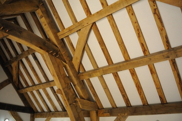Green oak - timber framing and staining