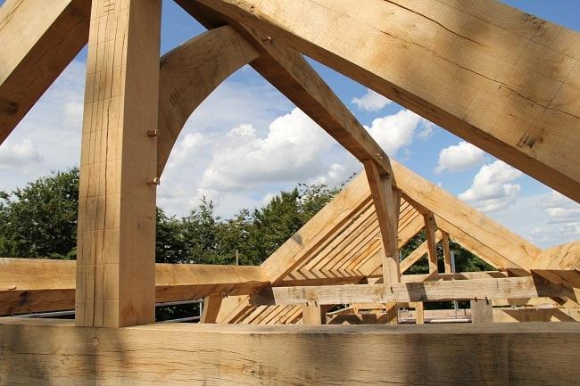 Oak Framed Buildings - Castle Ring Oak Frame