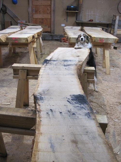 Castle Ring Oak Frame - workshop