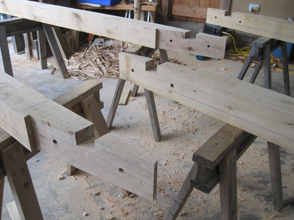 Scarf timber frame Castle Ring Oak Frame