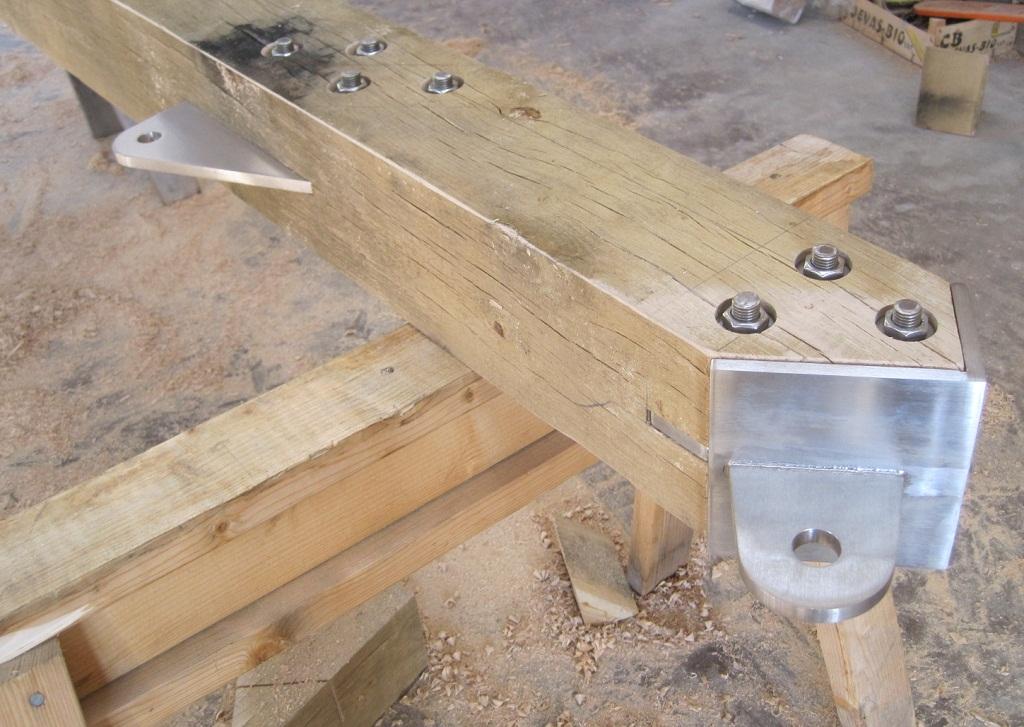 Donald McIntyre and Castle Ring Oak Frame steel timber frame