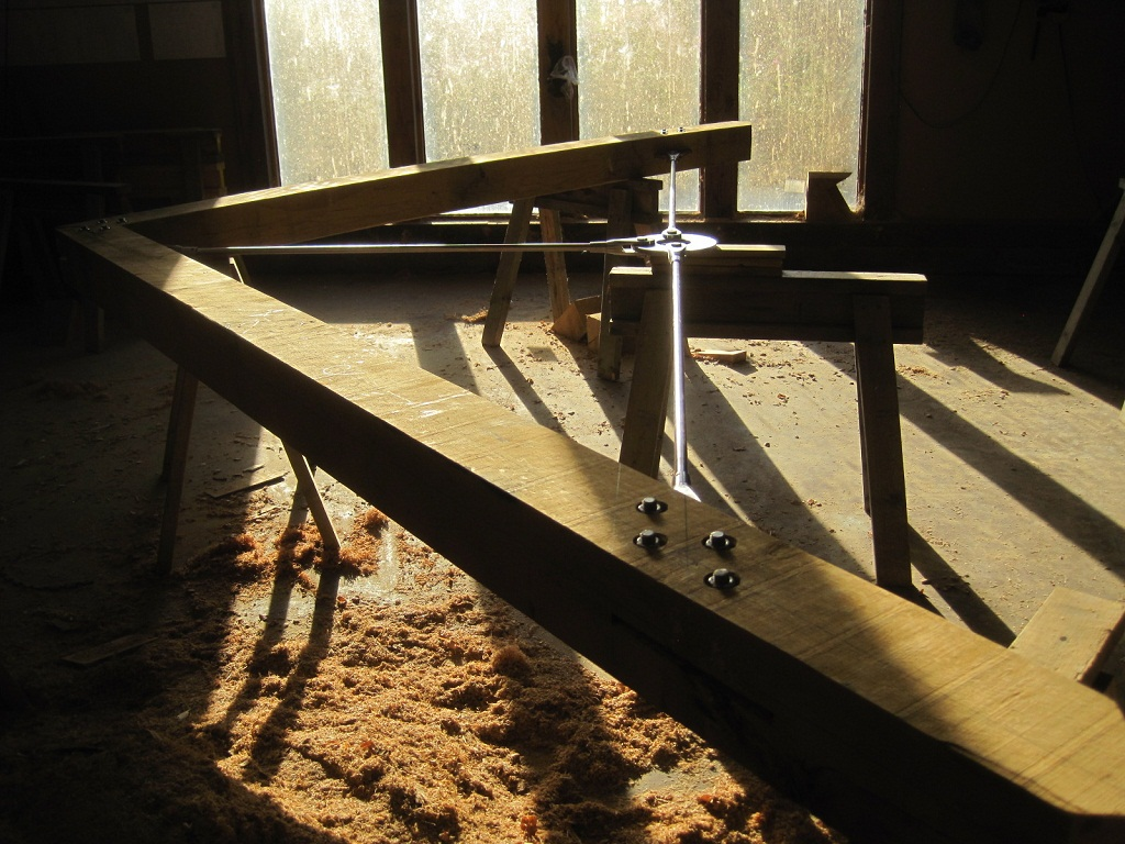 Donald McIntyre and Castle Ring Oak Frame steel trusses