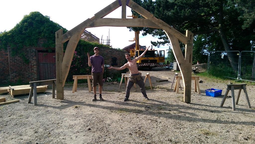 Castle Ring Oak Frame | Frame Raising