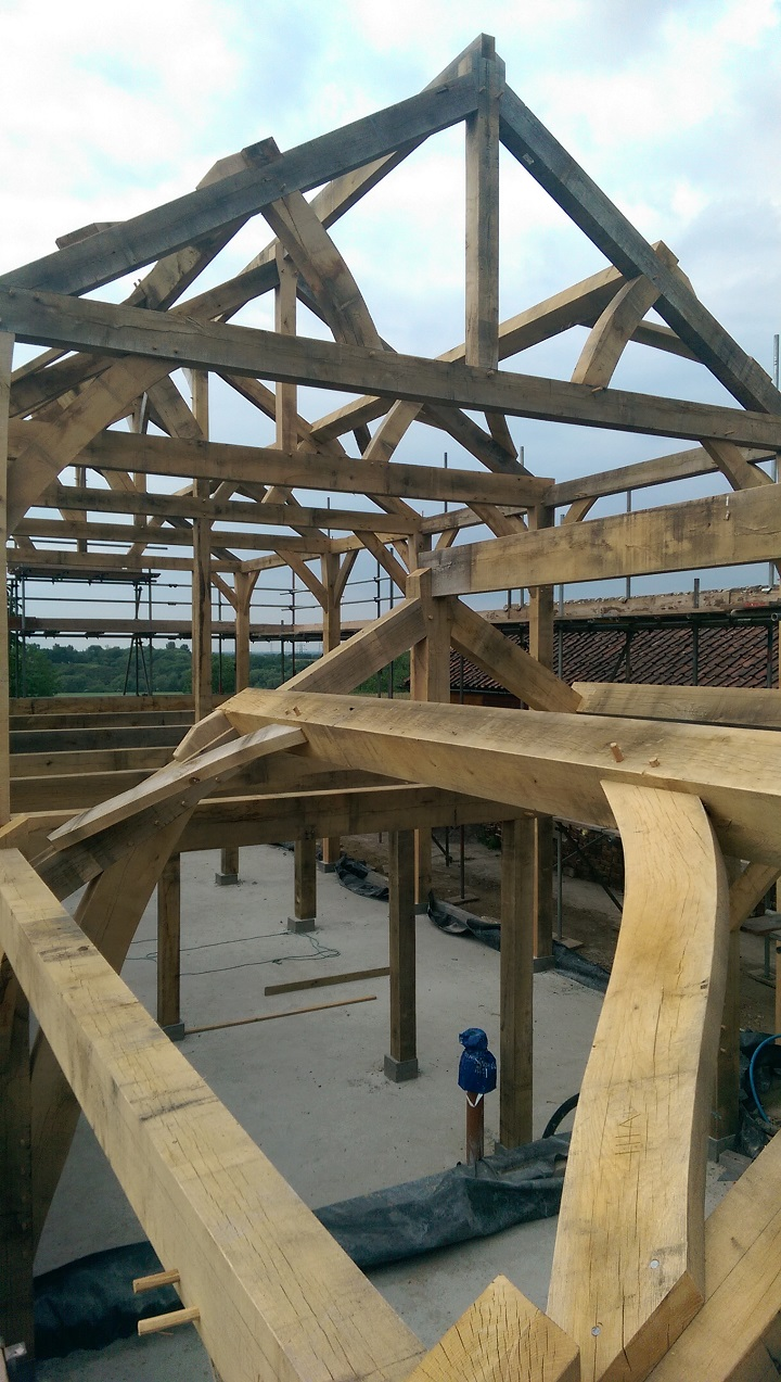 Timber frame wind bracing
