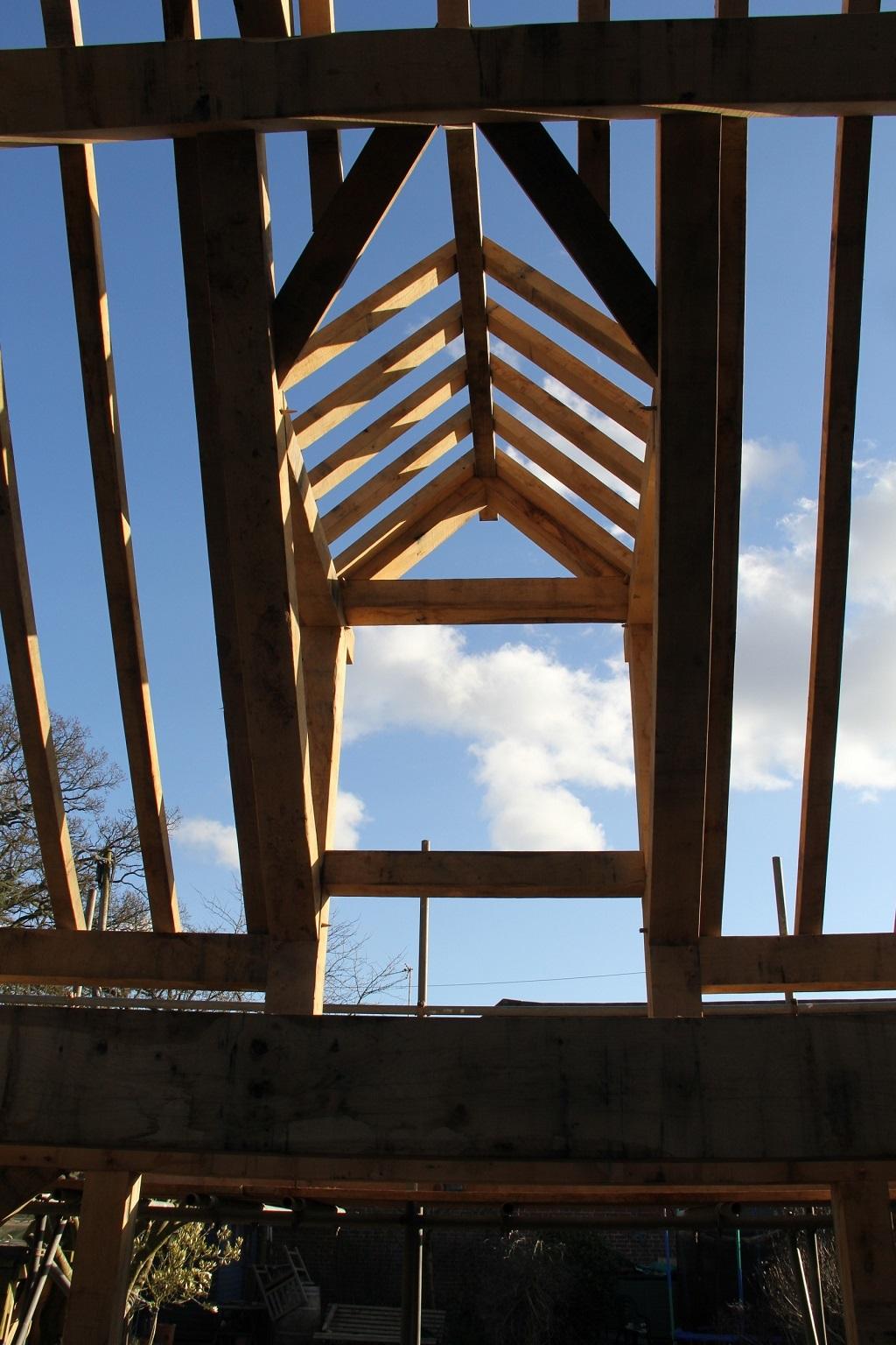 Oak framed dormer