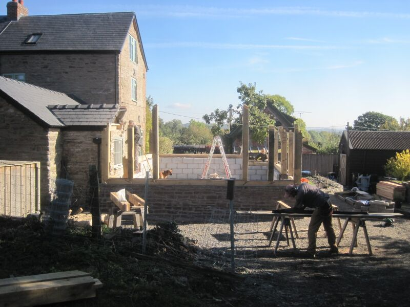 Cutting lead for timberframe