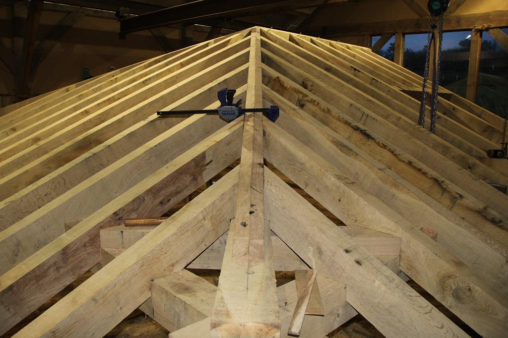 Oak frame hipped roof Castle Ring Oak Frame