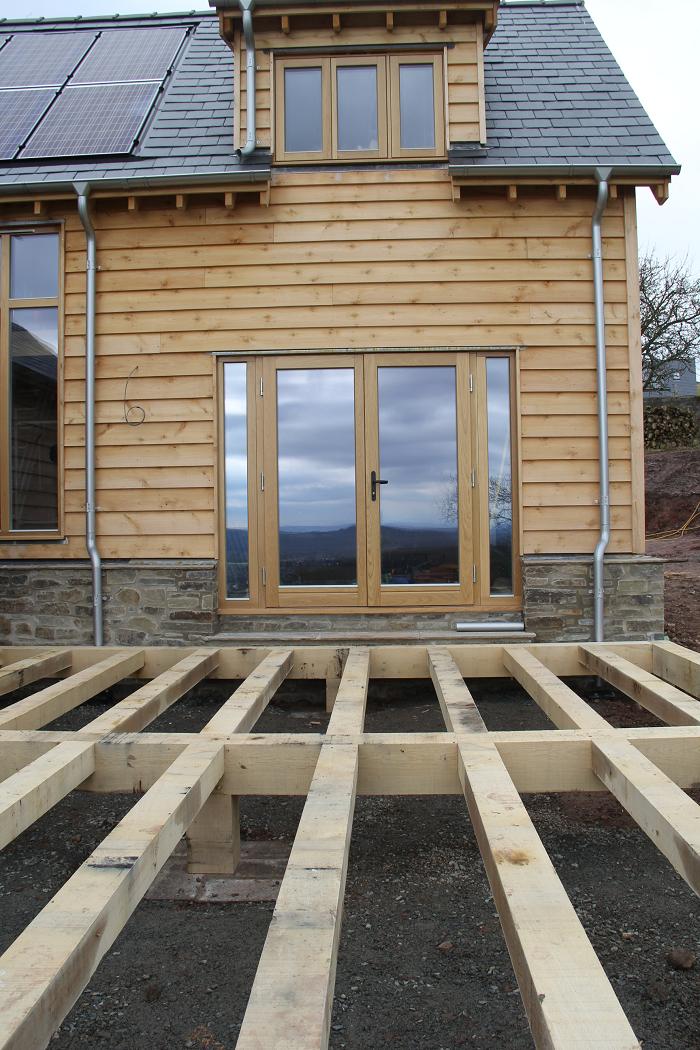 Oak framed house decking