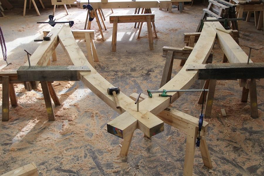 Oak cruck frame