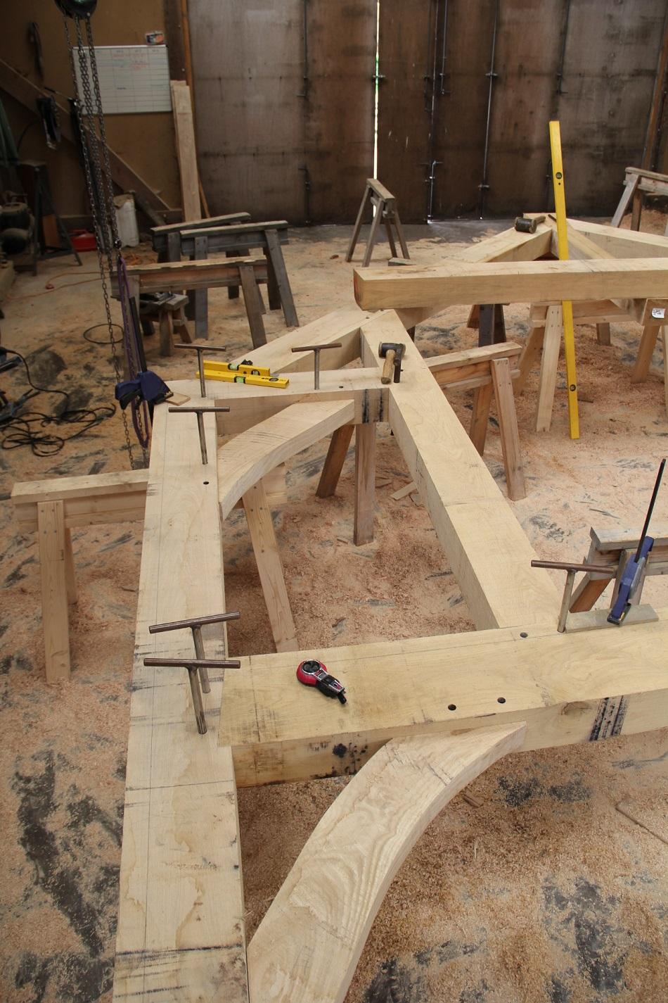 Timber frame Castle Ring Oak Frame