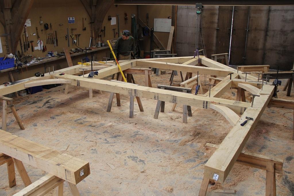 New timber frame house dormer