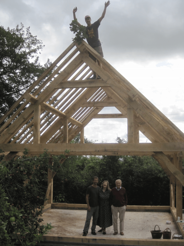 topping out a timber frame