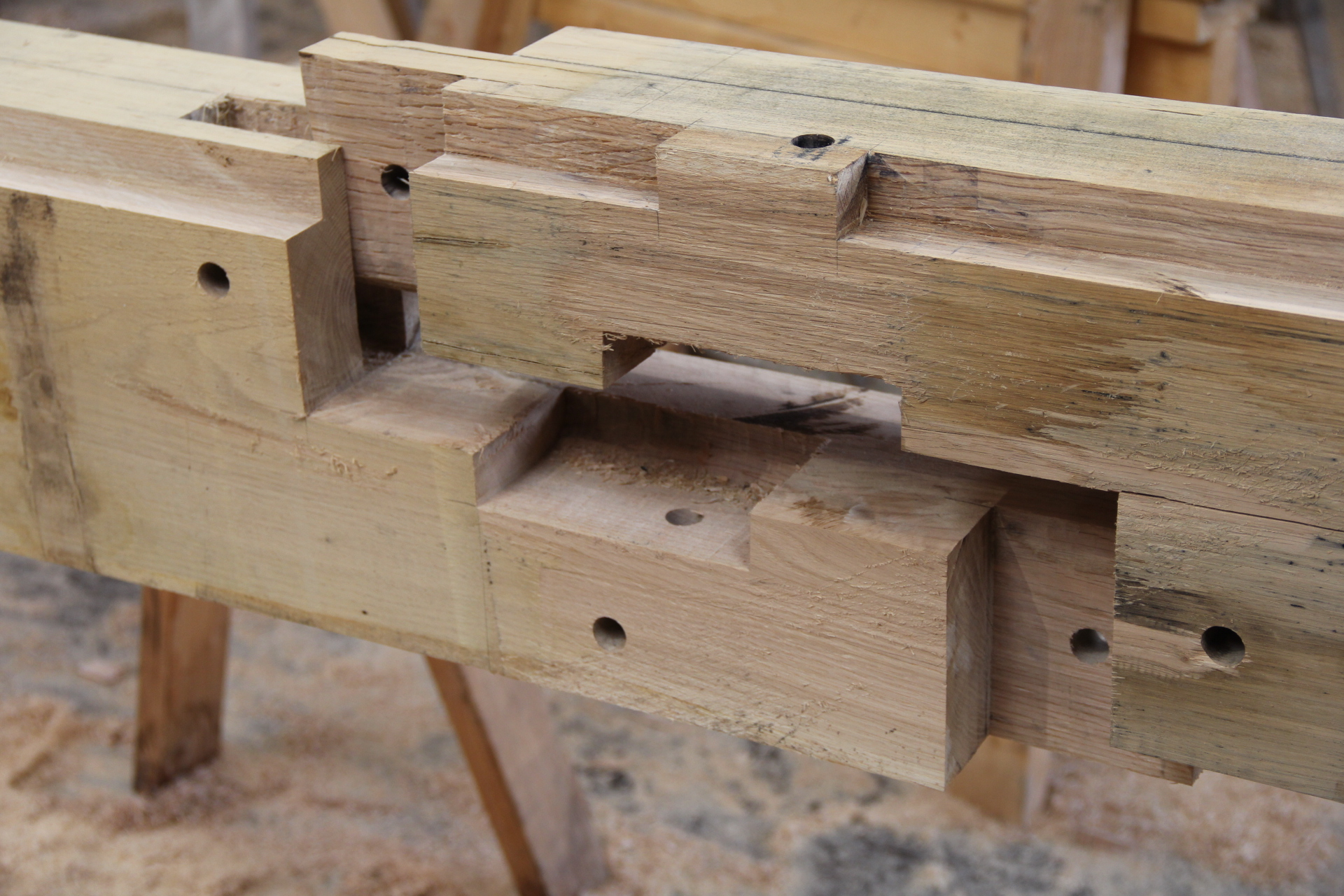 timber frame joint carpentry