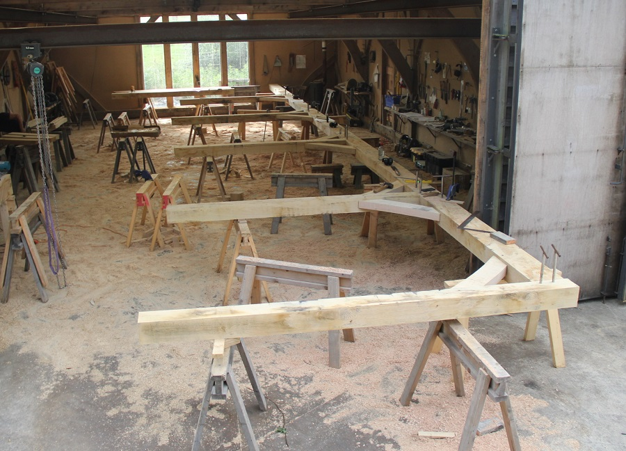 scarf joint timber frame