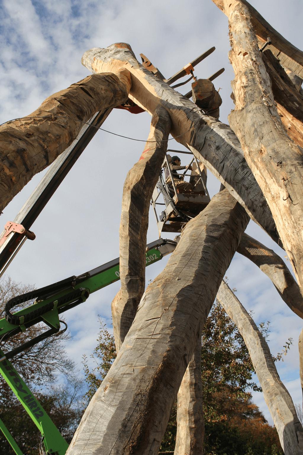 chestnut round timber