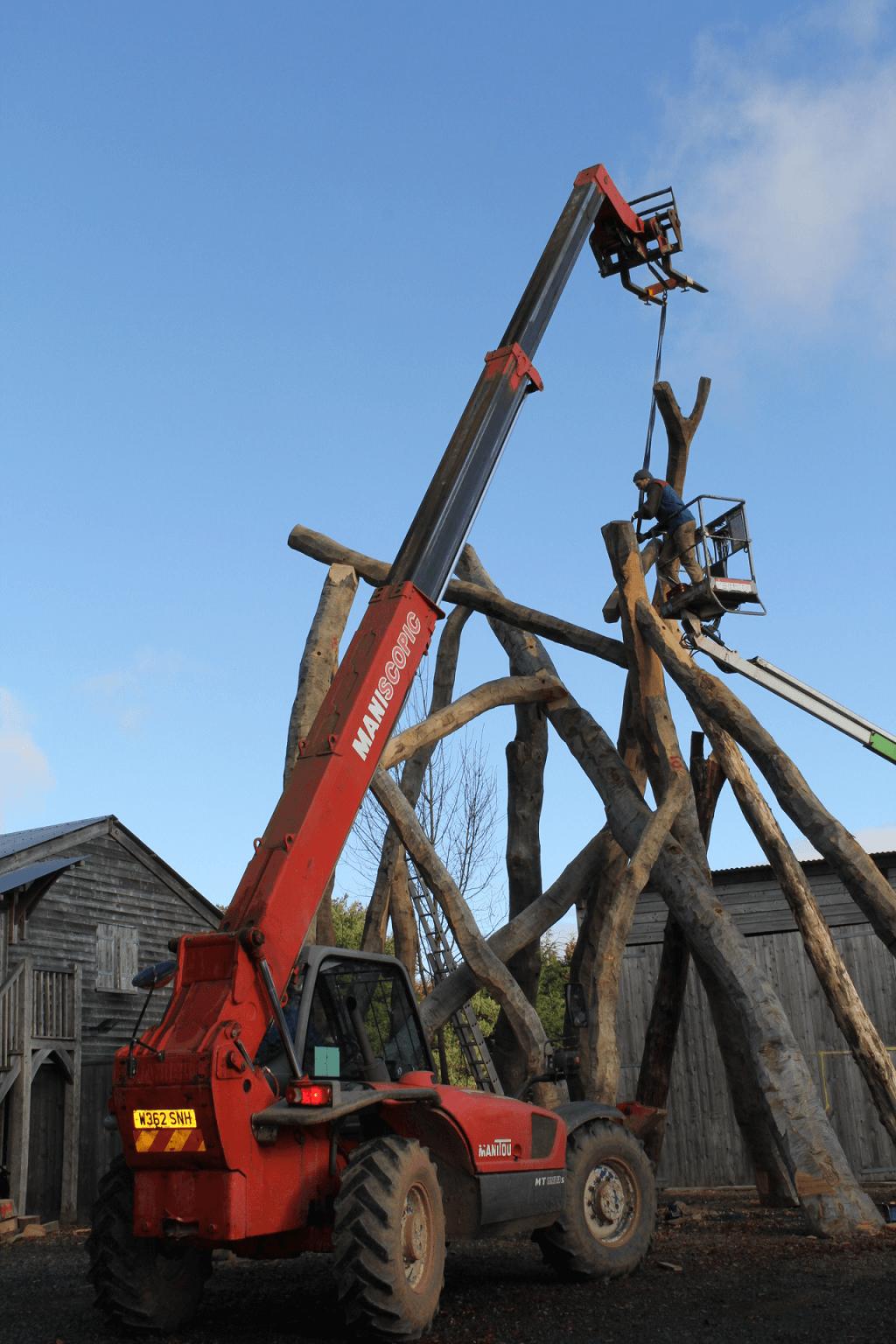 Rob Dawson Ivan Morison sculpture timber frame