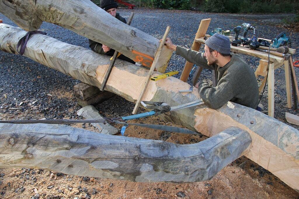 Jacob at Castle Ring Oak Frame timber