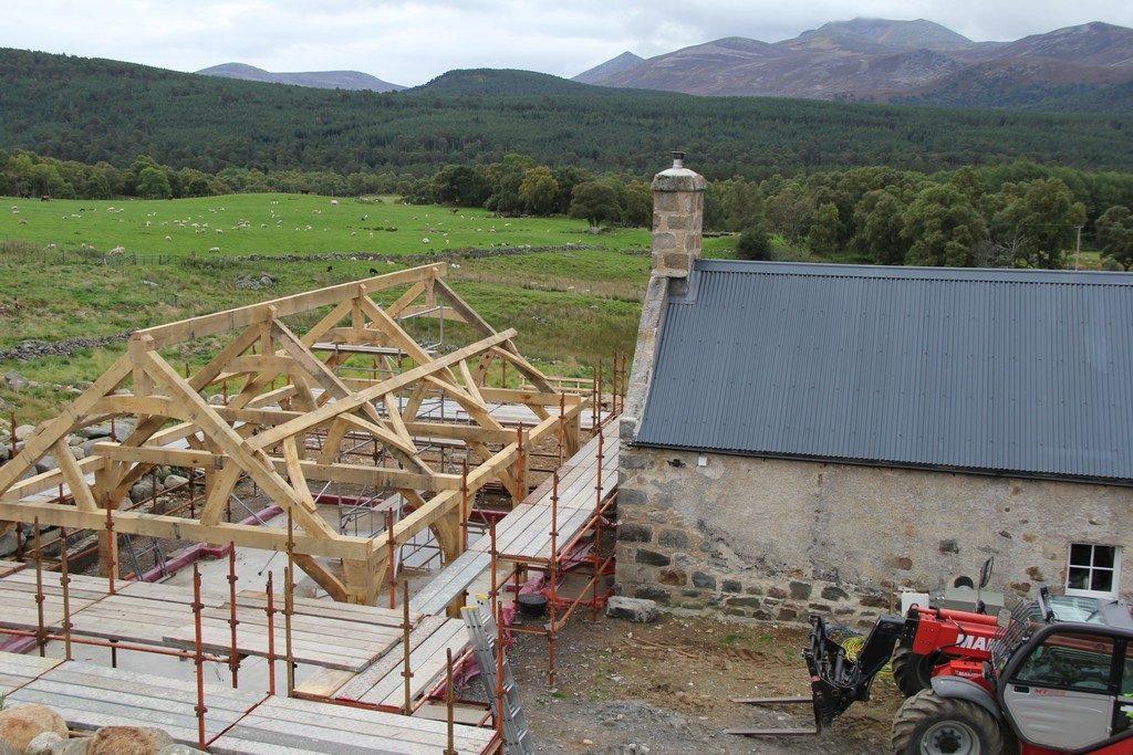 oak frame extension kitchen