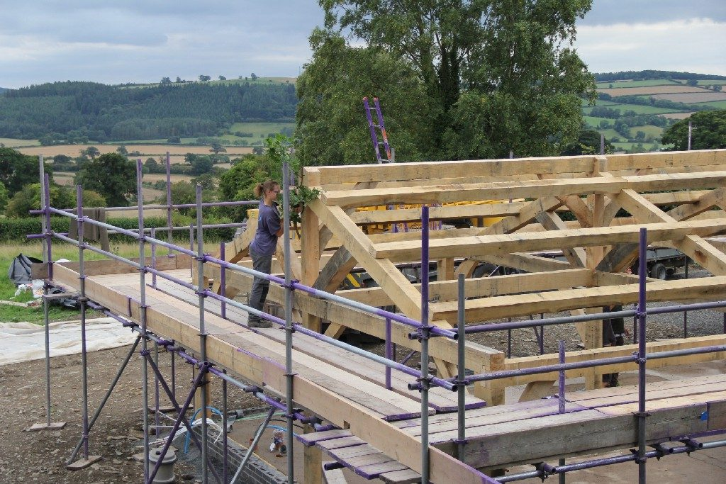 topping out ceremony oak frame timber frame