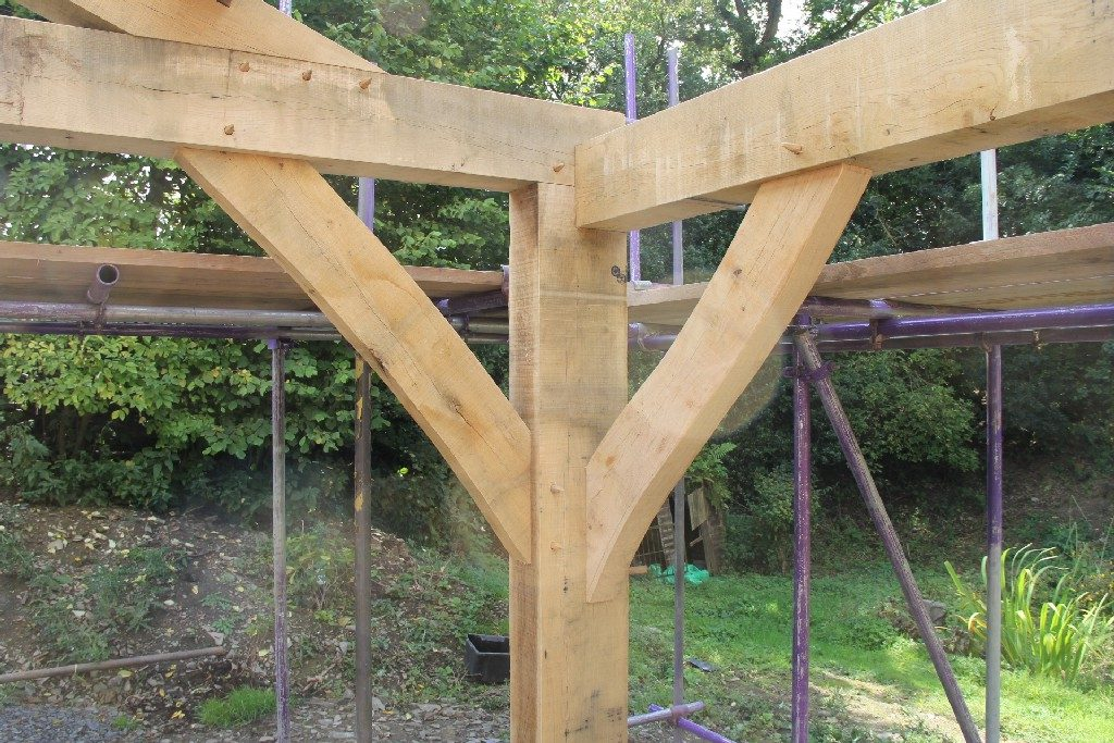 Oak frame home