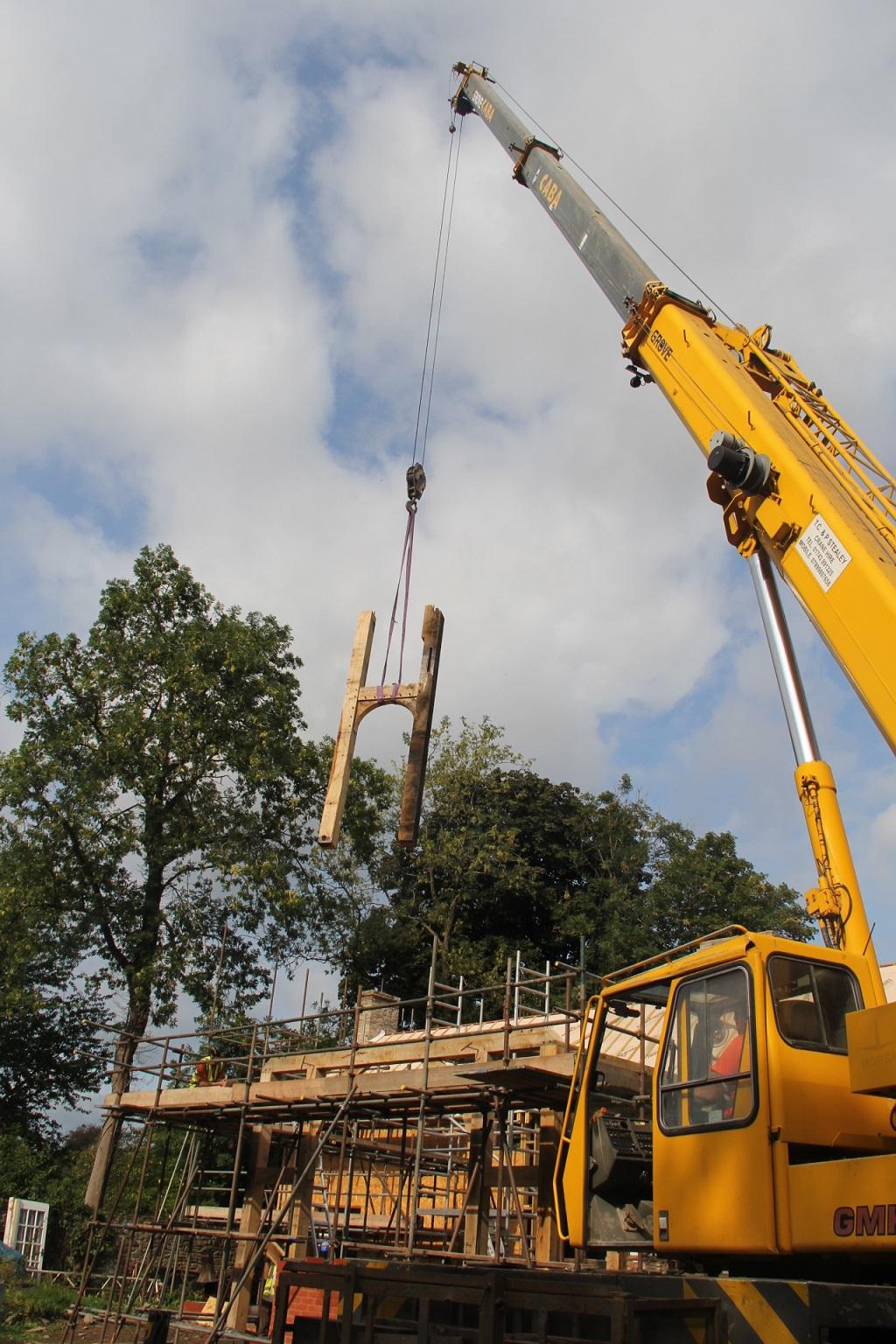 oak frame raising