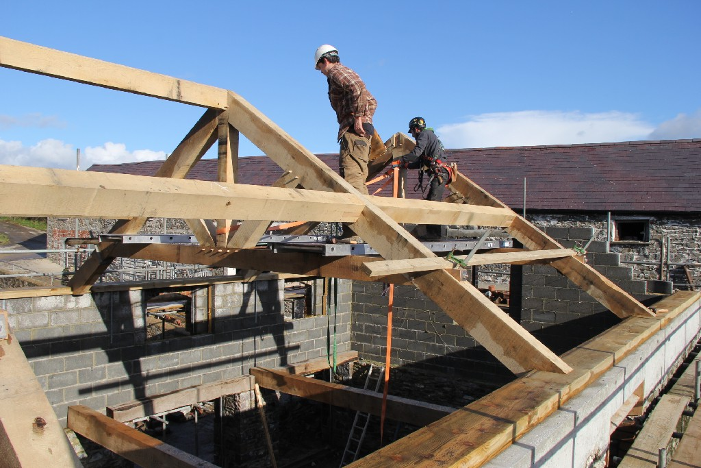 Roof purlins oak frame