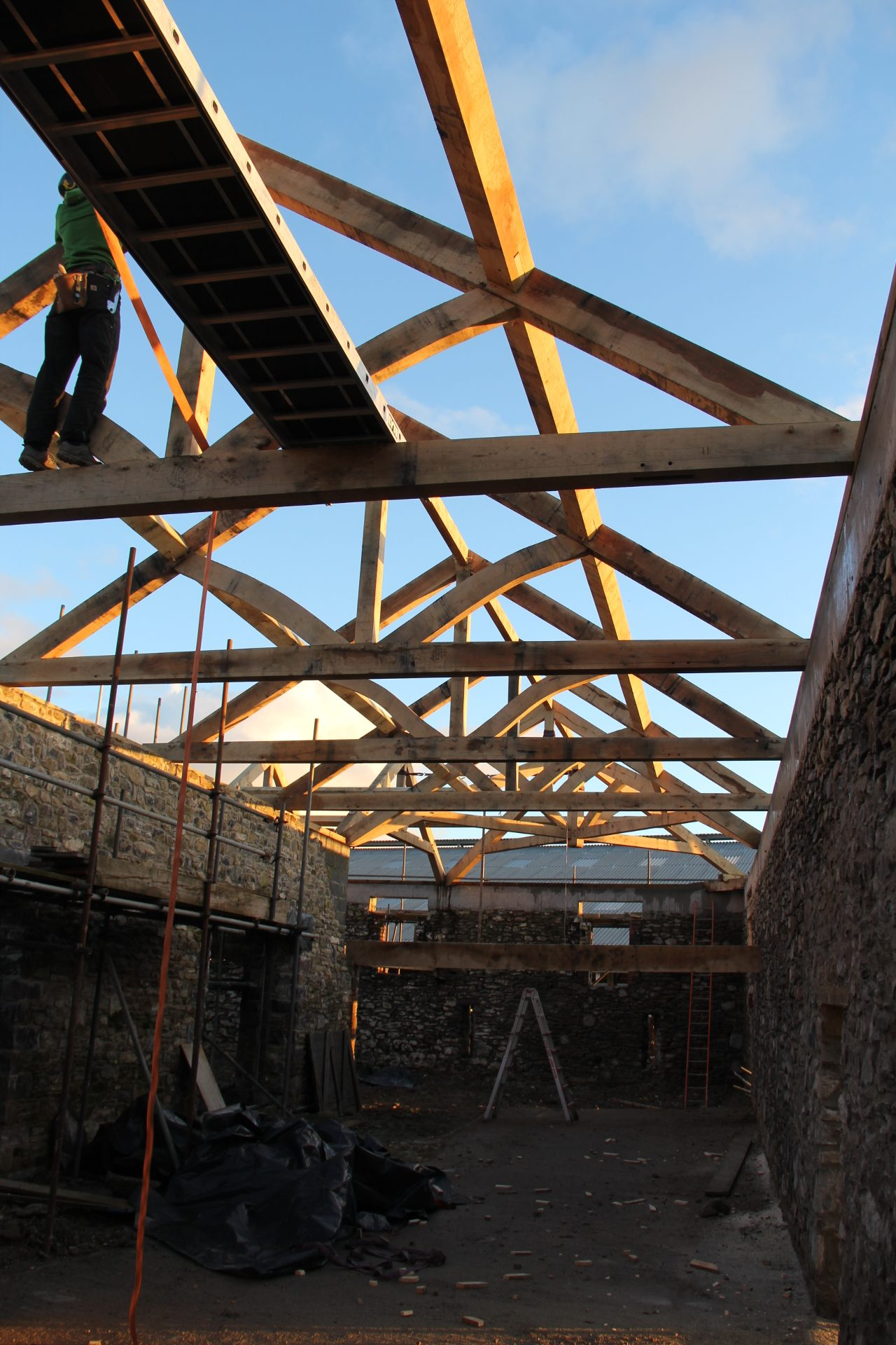 Castle Ring Oak Frame Carmarthen barn roof