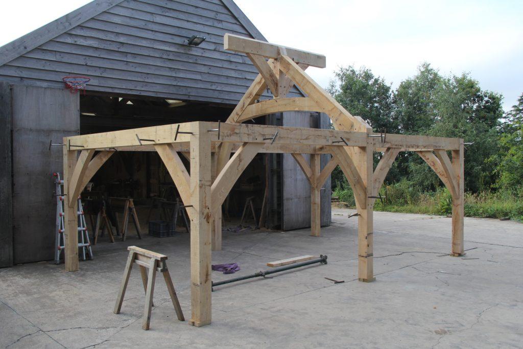 Oak frame kitchen Wales