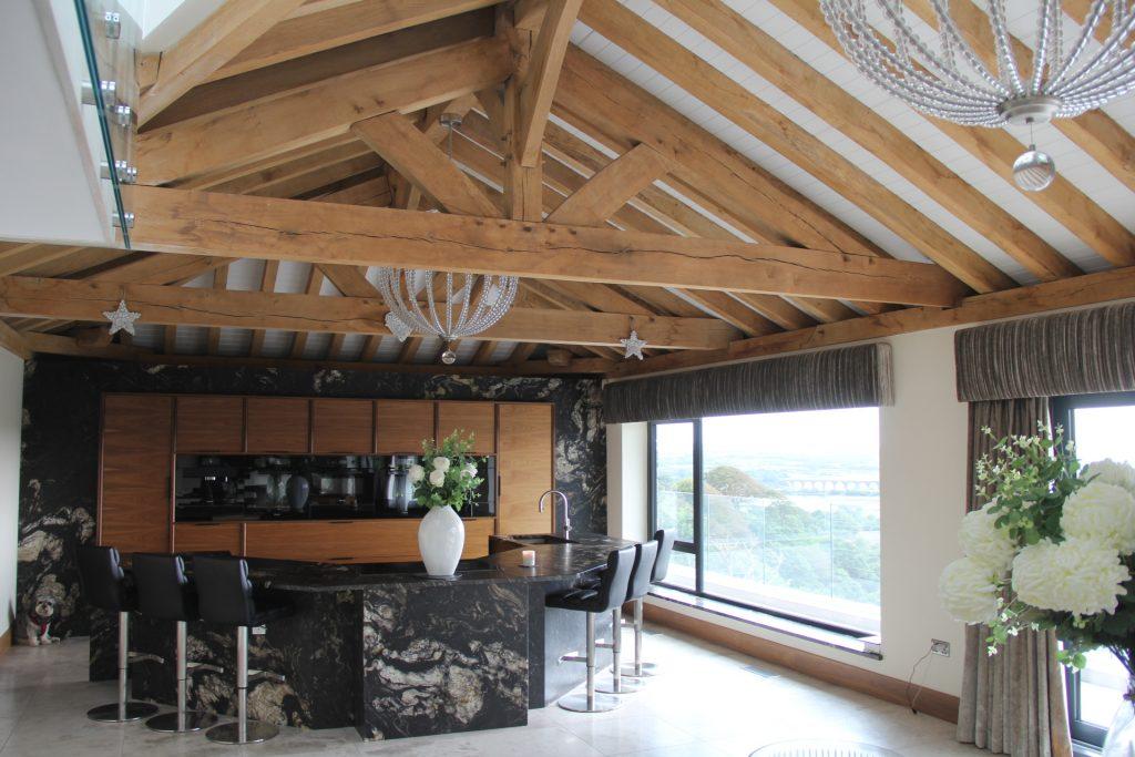 Interior design oak frame