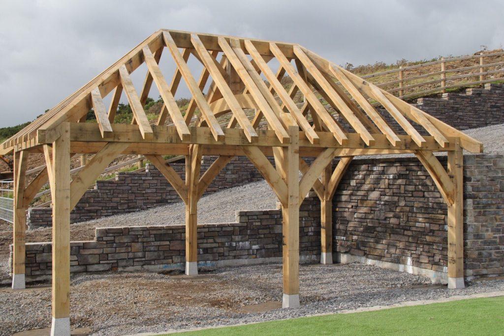 Oak framed exterior building design